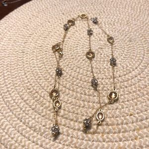 EUC Stella & Dot gold vintage necklace
